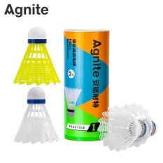 Hộp cầu lông nhựa Agnite 3 quả – Màu trắng/vàng – F2211