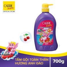 Tắm gội cho bé Carrie Junior hương Cherry 700gr
