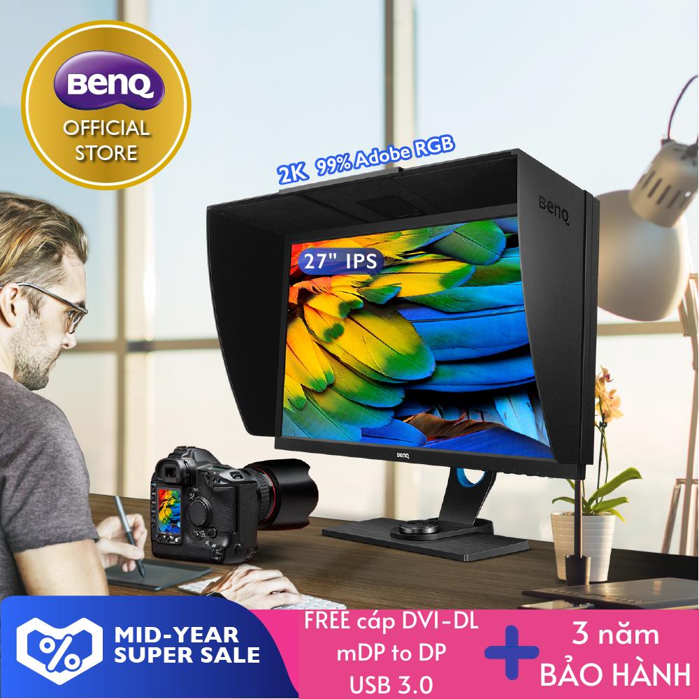 Màn hình máy tính đồ họa BenQ SW2700PT 27 inch QHD 2K IPS Adobe RGB cho nhiếp ảnh gia xử lý hình ảnh