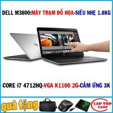 laptop Dell Precision M3800 máy trạm siêu mỏng core i7 4712hq, ram 8g, ssd 256g, vga Nvidia Quadro k1100 2g, màn 15.6 3k 3200×1880 cảm ứng
