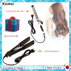 [Máy uốn tóc] Máy uốn tóc – máy ép tóc – máy làm tóc cho nữ-máy uốn tóc KM-1001A và máy ép tóc kemei KM-329 ( có video thực tế)