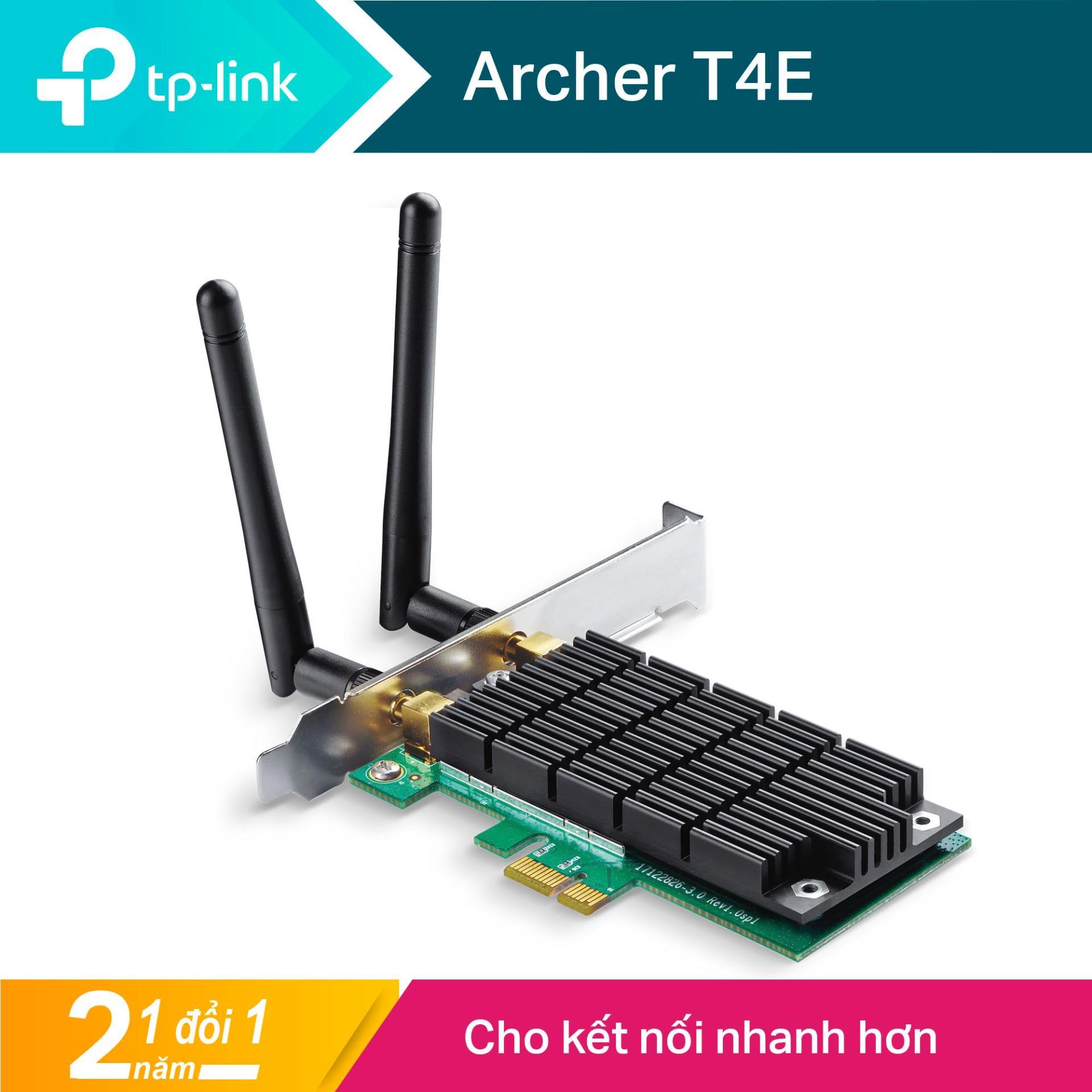 TP-Link Card mạng PCI Express Wifi Băng tần kép Chuẩn AC 1200Mbps Kết nối 2 ăng ten - Archer T4E...
