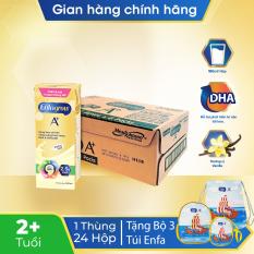 Thanh lý – [FREESHIP TOÀN QUỐC]Thùng 24 hộp sữa nước Enfagrow 4 vị Vani 180ml cho trẻ trên 2 tuổi.Tặng 1 bộ 3 túi Enfa cho bé (balo, túi đeo chéo, túi thể thao)