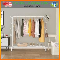 Giàn treo quần áo giày dép thông minh, sào treo quần áo di động có thể xếp gọn để phòng ngủ ban công kích thước 150x110cm