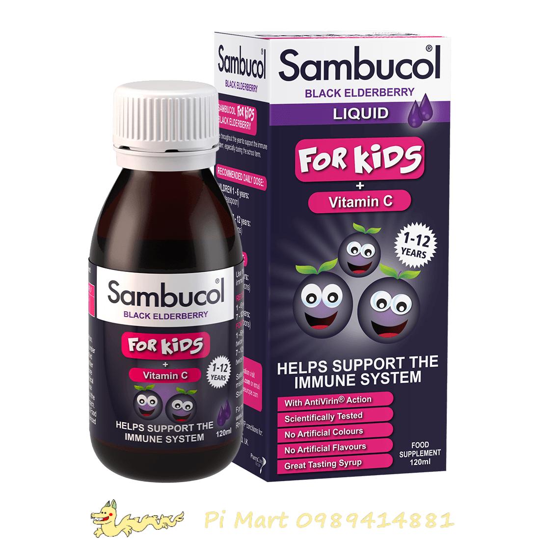 Siro tăng sức đề kháng Sambucol 120ml