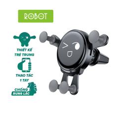 Giá đỡ điện thoại trên Ô tô ROBOT RT-CH13 thiết kế chắc chắn không bị trơn trượt trục xoay 360 độ an toàn khi sử dụng l HÀNG CHÍNH HÃNG
