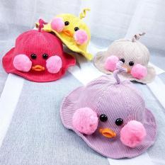 Mũ bucket mỏ vịt có má siêu yêu cho bé từ 2-5 tuổi( sỉ sl ib)