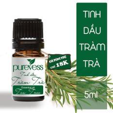 Tinh dầu Tràm Trà PUREVESS ( 05ml ) | Có đặc tính kháng khuẩn tự nhiên, giúp kháng khuẩn cho da mặt