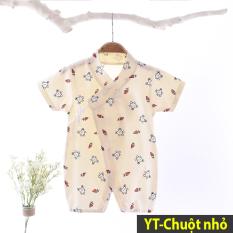 Body yukata cotton ngắn tay cho bé trai bé gái 0-12 tháng Hàng Quảng châu xuất Nhật (áo liền quần, bodysuit cho bé) YKT02