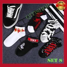 SET 5 Đôi Tất/Vớ Nam Cổ Thấp Cá Tính – Độc Đáo ⚡ Street Style- Mã QA-08