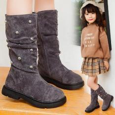 Boot da lộn bé gái trẻ em hàng cao cấp xuất khẩu size 26 – 36
