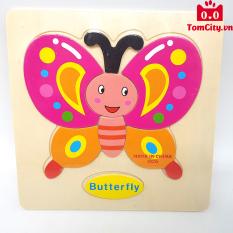 (Chủ đề côn trùng) Đồ chơi tranh gỗ ghép hình trí tuệ cho bé – Montessori