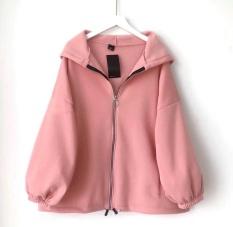 [Freeship toàn quốc] áo khoác nữ form rộng đi học, áo hoodie nữ form rộng có dây kéo tay cánh dơi