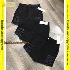 Quần giả Váy kaki rách YM đen MT311
