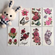 Combo 7 tấm hình xăm hoa 3d – mua 1 tặng 1 mini tattoo