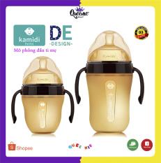 Bình sữa Silicon KAMIDI Chính Hãng cho trẻ sơ sinh, chống sặc cho bé, giúp bé tập bú bình, cai sữa mẹ 150ML/250ML