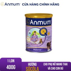 [GIẢM 25 ĐƠN 449TR]Sữa bột Anmum Materna hương Sô-cô-la 400g đặc chế dành riêng cho phụ nữ mang thai và cho con bú