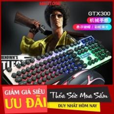 Bộ Bàn Phím Gaming có dây Kèm Chuột Máy Tính Có LED 7 Màu Ấn Tượng chính hãng GTX300