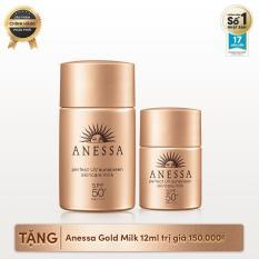 Bộ đôi sữa chống nắng toàn diện Anessa (Anessa Perfect UV Sunscreen Skincare Milk – SPF 50+, PA++++ – 20ml + Anessa Perfect UV Sunscreen Skincare Milk 12ml)