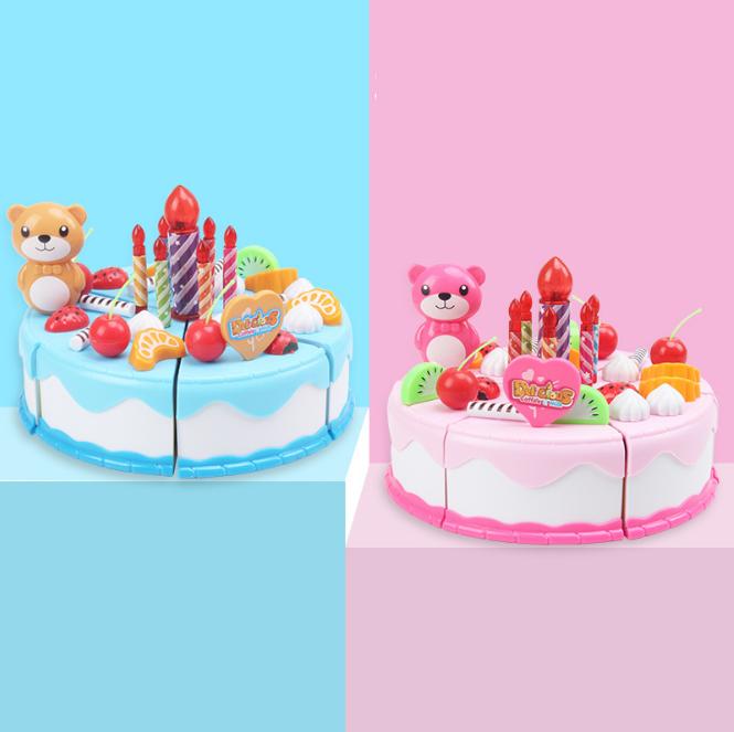 Đồ chơi cắt bánh sinh nhật cho bé, trang trí, nấu ăn, quà tặng sinh nhật bé gái