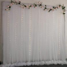 [Đã may] 1 tấm vải voan dài 2m, rộng 1.7m làm rèm voan cho phông nền trang trí sinh nhật, sự kiện, thôi nôi, đám cưới hỏi, phông nền chụp ảnh, livetrems