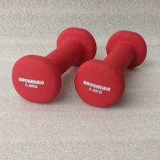 Bộ 2 tạ tay Brosman 0.5 Kg (Đỏ)