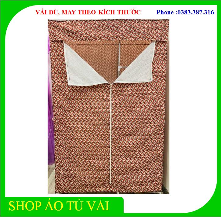 [ TỰ MAY ] Vỏ áo tủ vải, trùm tủ vải bằng vải thật, không kèm khung – Chất lượng cao