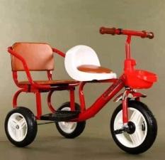 [ siêu rẻ] Xe đạp xích lô cao cấp cỡ đại 2 ghế cho bé – xe đạp 3 bánh trẻ em – xe đạp trẻ em