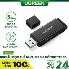 Đầu đọc thẻ nhớ USB 3.0 hỗ trợ thẻ TF/SD UGREEN CM104 – Hãng phân phối chính thức