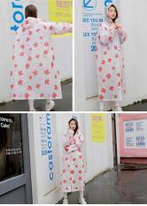 Áo mưa nữ đẹp – Áo mưa nữ họa tiết siêu dễ thương, chất liệu EVA cao cấp