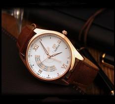 Đồng hồ nam Yazole 337 Dây da kiểu dáng độc đáo