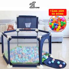 [ Tặng 50 bóng ] – Quây bóng lều chơi bóng cho bé – Nhà bóng cho bé khung inox chắc chắn – Lêu Lục Giác – Giao Màu Ngẫu Nhiên