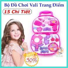Bộ đồ chơi Vali Trang Điểm 15 chi tiết cho bé – Đồ chơi tập trang điểm cho bé gái