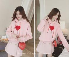 Áo Khoác Nữ Hoodie Hàn Quốc 2019 màu Hồng TA921