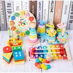 Bộ đồ chơi gỗ thông minh combo 7 món cho bé