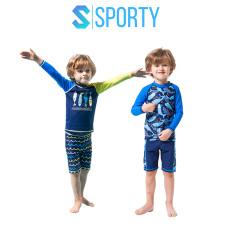 Đồ Bơi Trẻ Em – Áo Bơi Dài Tay Cho Bé Trai Kèm Quần Lửng SPORTY