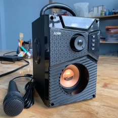 (Giá Tốt) Loa Công Suất Lớn, Loa A300 Hozito Cao Cấp Version 2020 + TẶNG MIC HÁT, Loa Hat Karaoke Bluetooth Cầm Tay -Kèm Bóp xốp