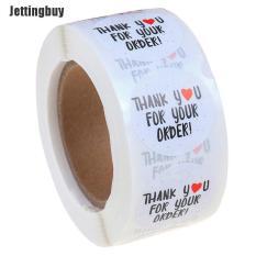 Jettingbuy 500 Chiếc Tròn Cảm Ơn Bạn Đã Đặt Hàng Nhãn Dán Trái Tim Cảm Ơn Bạn Đã Mua Sắm