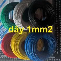 10 mét dây điện đơn RV (SỢI ĐỒNG NHỎ) 1,0mm đỏ kde1692