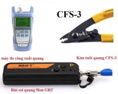 Máy đo công xuất quang DXP-40D +Bút soi quang 5km GRT+ Kìm tuốt quang CFS-3