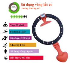 Vòng lắc eo thông minh giảm mỡ bụng ,Vòng lắc giảm eo có đồng hồ đo số vòng Hula mẫu mới siêu hot