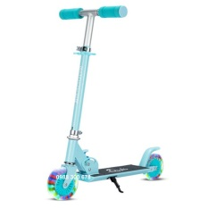 Xe Scooter trẻ em có đèn led và chân trống tiện lợi cao cấp chịu tải trọng lượng lớn đến 50kg với màu sắc đẹp và kiểu dáng hiện đại, loại xe scooter 2 bánh cho bé trai và gái từ 3-10 tuổi [TOMTIN SPORT]