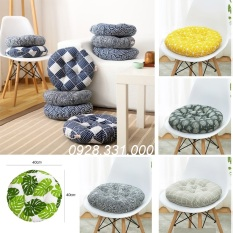 Nệm ngồi bệt tròn, nệm ngồi giá tốt Vải Bố 40x40x7cm