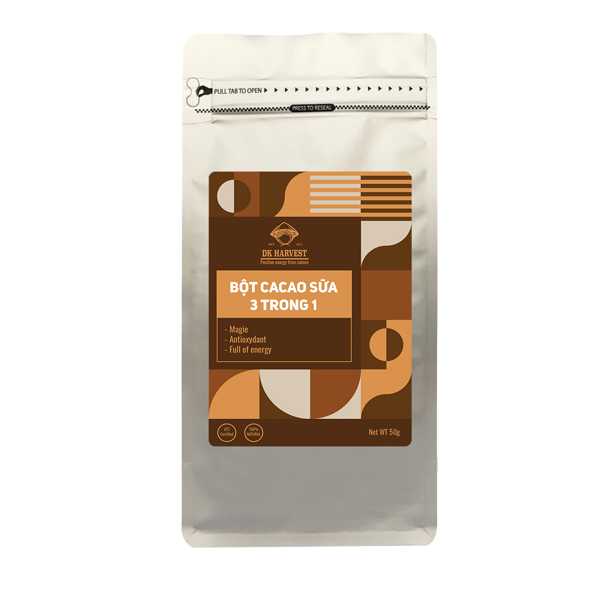 Bột Cacao Sữa 3 trong 1 DK Harvest - 50g