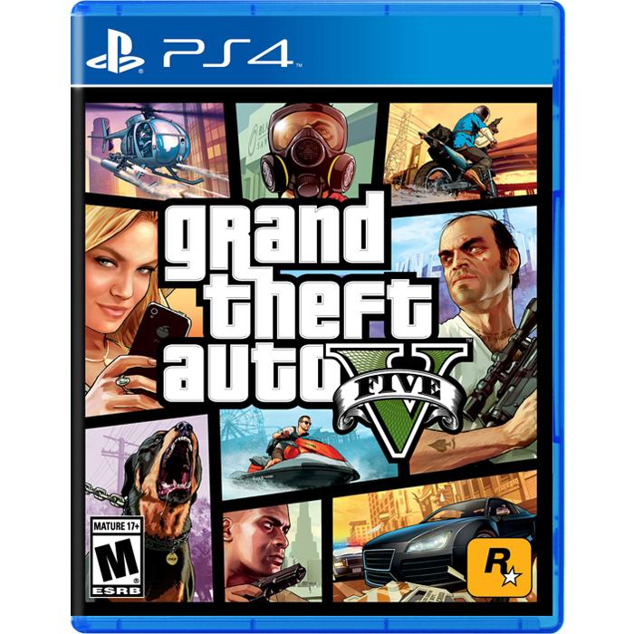 Đĩa Game PS4: Grand Theft Auto V - US