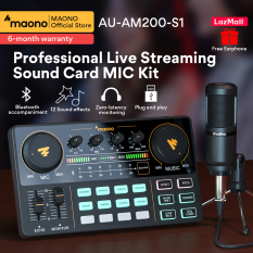 MAONO AM200-S1 Sound Card Microphone Set Professional Live Broadcast Sound Card Mixer for Mobile Phone Computer PC Youtube Tik-Tok