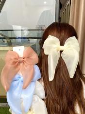 Kẹp Tóc Nơ Voan Công Chúa Phong Cách Hàn Quốc Cho Bé Gái Cực Điệu Đà Duyên Dáng