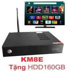 Đầu karaoke wifi Acnos KM8E (Tặng HDD 160GB) Màu sắc: đen,điều khiển trực tiếp qua smartphone.