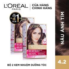 Bộ 2 kem nhuộm dưỡng tóc L'Oreal Paris Excellence Fashion 172mlx2