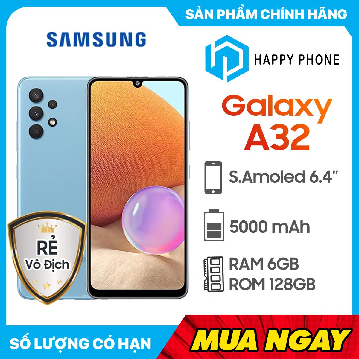[Trả góp 0%] Điện thoại Samsung Galaxy A32 (6GB/128GB)- Hàng chính hãng mới 100% Nguyên Seal | Bảo hành 12...